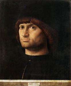 Antonello de Messine, Portrait d'homme, dit Le Condottiere, 1475, Musée du Louvre