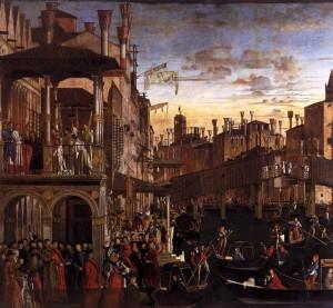 Vittore Carpaccio, Miracle de la relique de la Croix au Pont du Rialto, Gallerie dell'Accademia, 1494