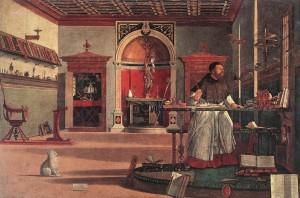 Vittore Carpaccio, La Vision de Saint Augustin, Scuola di San Giorgio degli Schiavoni, Venise, 1502