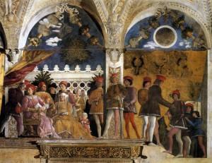 Andrea Mantegna, mur de la Chambre des époux, fresque, palais ducal de Mantoue, 1465