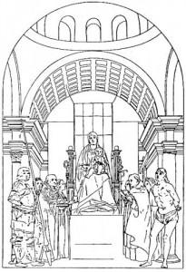Wilde, reconstitution du retable de San Cassiano d'Antonello de Messine, début XXe siècle