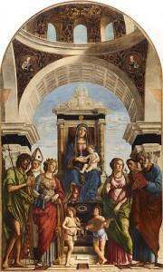 Cima da Conegliano, Vierge à l'Enfant entourée de Saints, 1492-93, Duomo de Conegliano