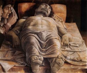Andrea Mantegna, Lamentation sur le Christ mort, 1490, Pinacoteca di Brera, Milan