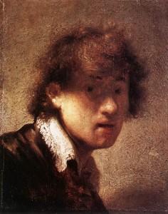 Rembrandt van Rijn, Autoportrait, 1629, Alte Pinakothek, Munich