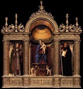 Giovanni Bellini, Triptyque des Frari, 1488, Santa Maria Gloriosa dei Frari, Venise