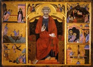 Guido di Graziano, Retable de saint Pierre, 1280, or et détrempe sur bois, Sienne, Pinacothèque