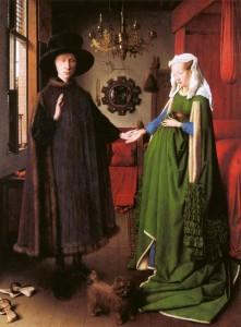 Jan Van Eyck, portrait des époux Arnolfini, National Gallery, London, 1434