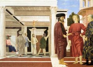Piero della Francesca, la flagellation du christ, Galleria Nazionale delle Marche, Urbino, 1455