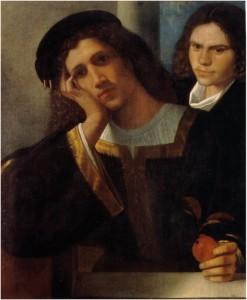 Giorgione, Double portrait, 16e siècle, Museo Nazionale di Castel Sant'Angelo, Roma