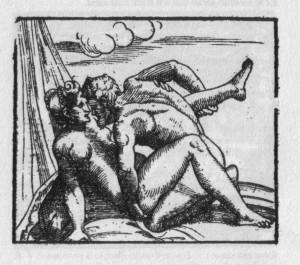 """Marcantonio Raimondi d'après Giulio Romano, illustration des """"Sonnets luxurieux"""" de Pietro Arétino, 1524-25"""