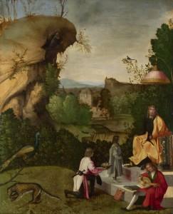 Giorgione, L'hommage à un poète, 16e siècle, National Gallery, Londres
