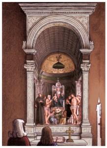 Jean Dytar, Vision de Bacchus, retable san giobbe
