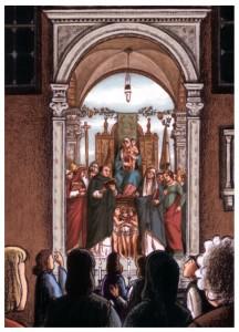 Jean Dytar, Vision de Bacchus, retable san zanipolo