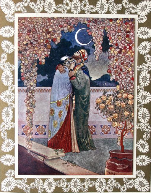Illustration de René Bull pour une édition des Rubiyat d'Omar Khayyâm traduite par Fitzgerald, 1913.